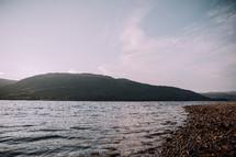 Loch Linnhe shore in Scotland