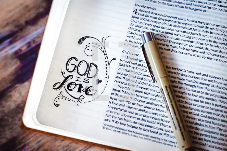 notes on the side of the pages of a Bible