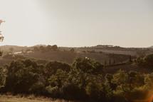 hills on an Italian landscape