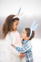 brother and sister Easter portrait