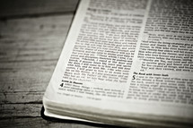 A Bible opened up to the book of Revelation