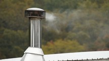 smoke from a chimney