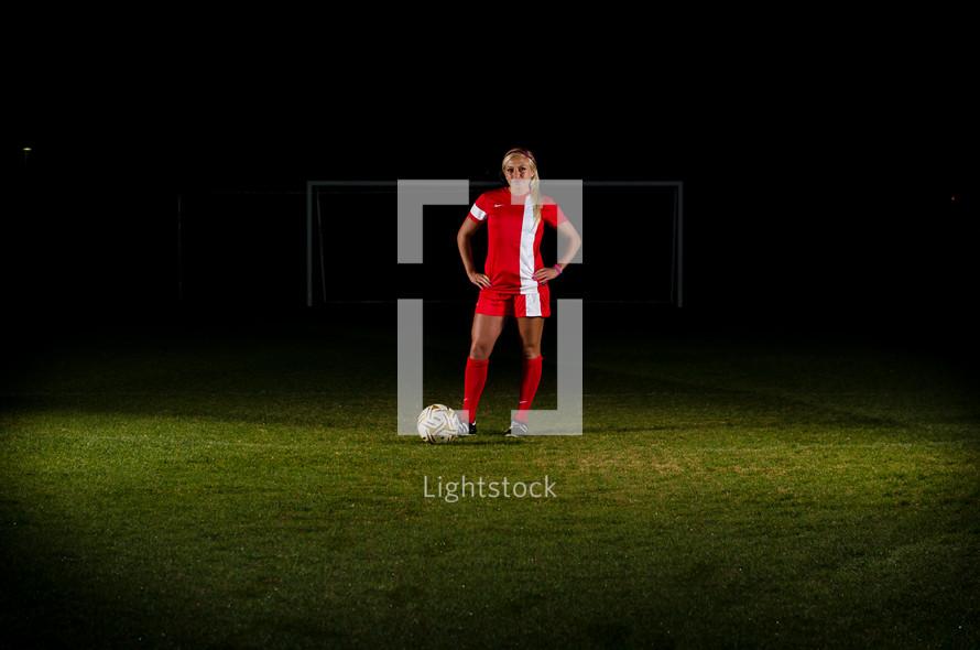 teen girl soccer player