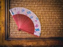 fan on a table