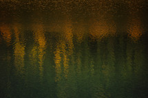 autumn reflections on water textured and layered to create abstract background