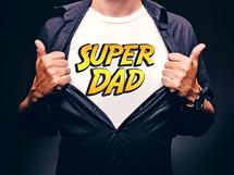 super dad on a t-shirt