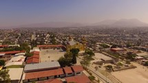 drone aerial view over Mexico