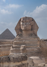 The Sphinx, with Khafre's pyramid in the background