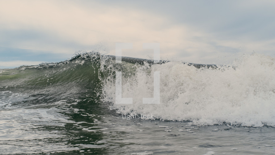 A wave in the ocean.