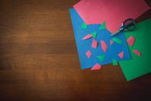cutting scrap paper