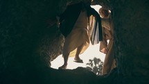 Peter and John at the empty tomb