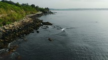 rocks along a coastline