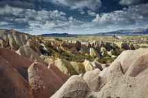 smooth rocks  in Cappadocia, Turkey