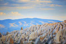 smooth rocks in a desert of Cappadocia, Turkey