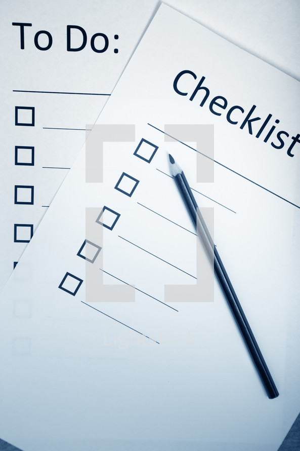 to do and checklist