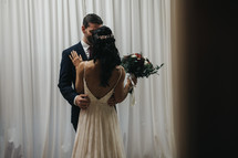special moment between a bride and groom