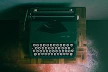 overhead on old typewriter
