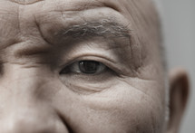 eye of an elderly man
