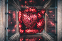 red sparkly hearts