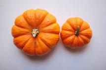 two pumpkins