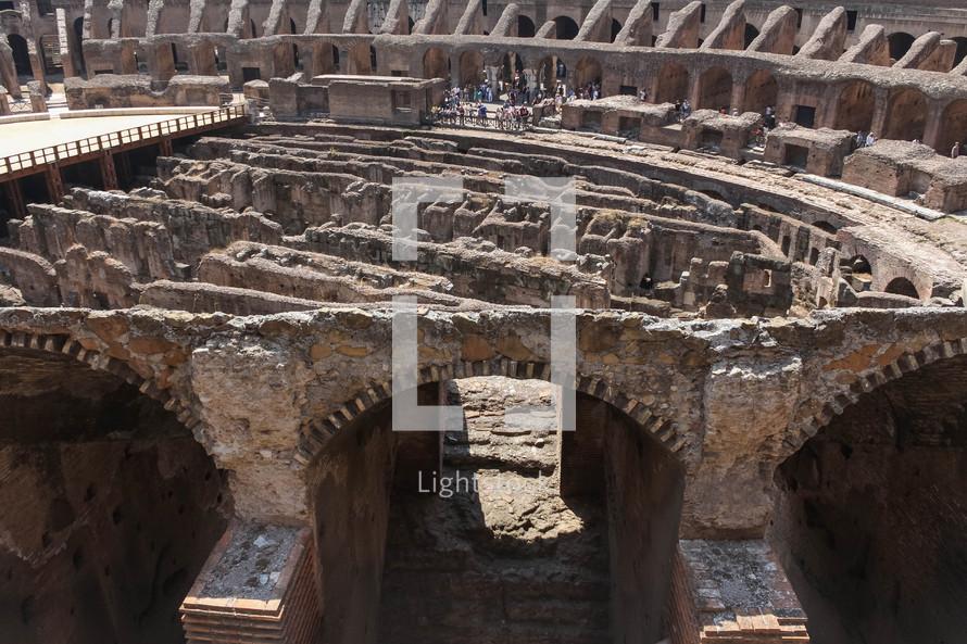 Coliseum in Rome interior