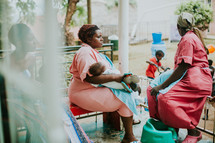 nurses caring for children in an orphanage