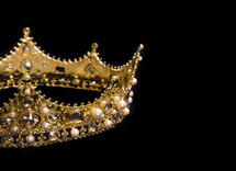 jeweled crown on black