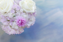 white and pink flower arrangement