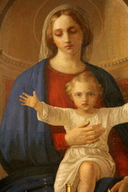 painting of Mary and baby Jesus