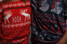 woman and man in an ugly Christmas sweater