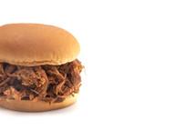 Pulled Pork Sandwich on a White Bun