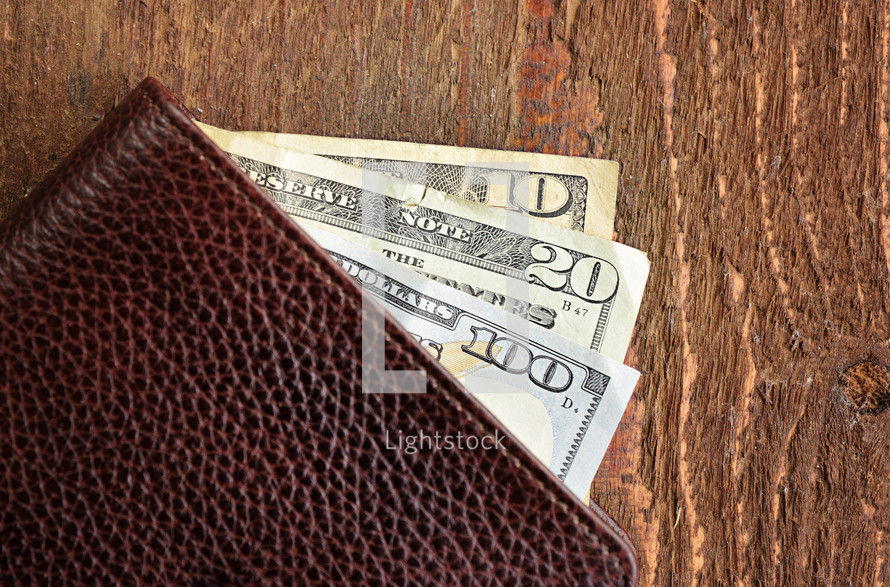 US Currency in a wallet