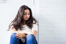 a sad teenage girl