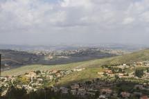 homes along hillsides in Israel