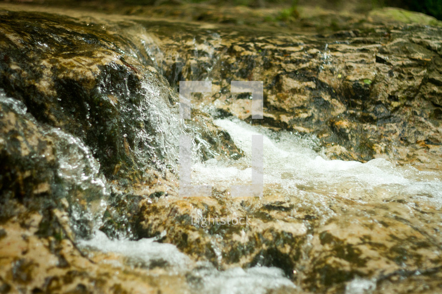 water rushing in a creek
