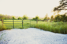 gate to a farm pasture