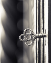 skeleton key in a keyhole