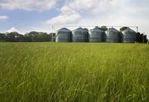 row of silos