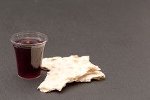 communion bread and wine cup