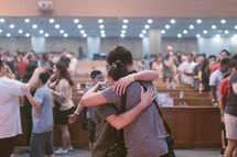 hugs and healing in a church