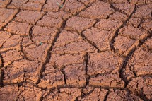 cracked red clay earth