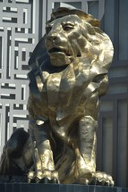 Golden Lion in front of MGM casino