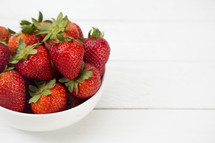 bowl of red strawberries