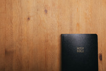 Holy Bible on a table