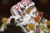 gingerbread house closeup