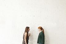 female friends talking