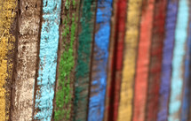 colorful wood boards