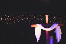 shroud on a cross