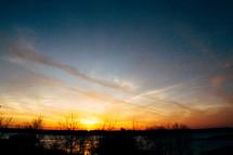 horizon at sunset