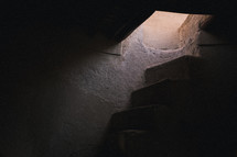 stone steps in a cellar